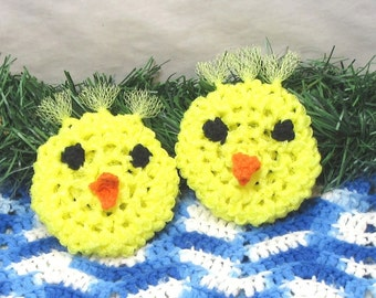 Pot Scrubbers. Ducks, yellow, cleaning aid, durable, kitchen, bath, eco-friendly scour pad. Just Ducky pair of scrubbers.