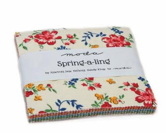 SUMMER SALE - Spring A Ling - Charm Pack - American Jane - Moda Fabrics