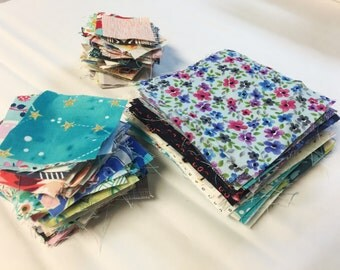 """Fresh Cut Fabric Squares . 2"""" - 7"""" . Choose Size and color preference"""