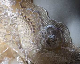 GOLD Embroidered Lace Fabric for GRAD, Bridal, Regency Costumes