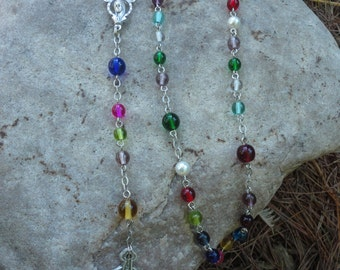 Family Birthstone Rosary-FREE SHIPPING!