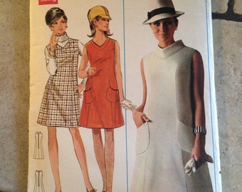 Butterick 4790 Size 12 Misses' Dress or Jumper Pattern