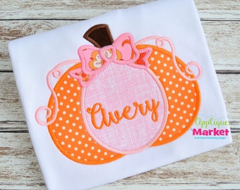 Machine Embroidery Design Embroidery Pumpkin Bow INSTANT DOWNLOAD