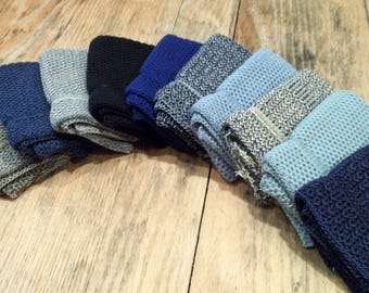Dishcloths Knit in Cotton in a Blue Bundle, Knit Washcloths, Dishcloth, Washcloth, Cotton Dishcloth