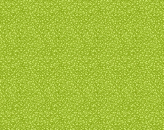 Dotties Fabric by Ellen Medlock - 1 Yard Medium Lime Grass Green Quilting Sewing Cotton Fabric (#927G)