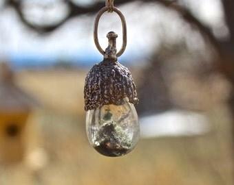 Woodland Acorn Cap and Dream Stone Necklace