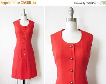 RESERVED 50% OFF SALE 60s mod dress, vintage red mod scooter dress, mod linen dress, small