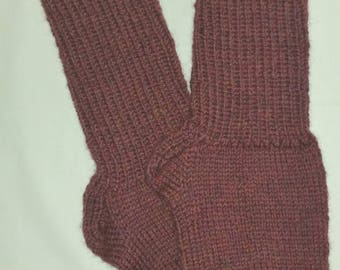 New Warm and Soft Hand Knit 100% Pure Wool Socks (9.0 inches length)