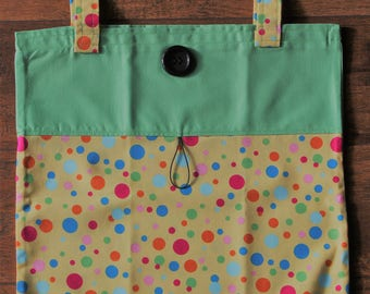 Tote Bag Fold Up Take Along Tote Bag Light Weight Roll Up Bagette Purse Bag