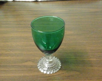 Vintage Green Oatmeal Glass