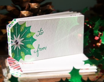 Christmas Cheer - 16 pk Letterpressed Gift Tags