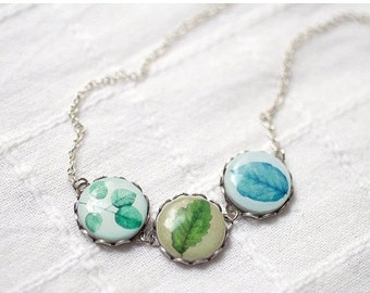 Spring Leaves necklace (BN005)