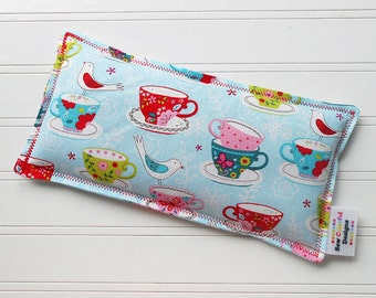 Microwavable Heating Pad and Ice Packs, Keepin' Cozy Willy Pad; Warm Compress and Cold Compress, 4 Sizes - Tea Party