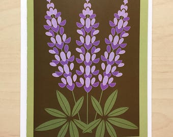 Lupine Note Card