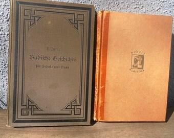 Two Vintage German Books