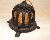 Vintage Bee Hive Cast Iron Counter Mount String Holder