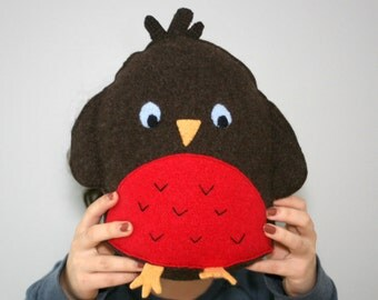 Bird Plush - Nursery Decor - Animal Babyshower - Bird Decor - Kids Room Decor - Tween Gift - Baby Gift - Robin Soft Toy.