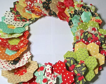 Closing  Sale 26 Fig Tree Quilts Hexagon Flowers English Paper Piecing Chestnut Street