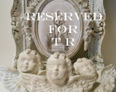 RESERVED for T R Patina Stone Cherubs