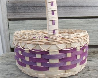 Extra Large Purple and Lavender Easter Basket