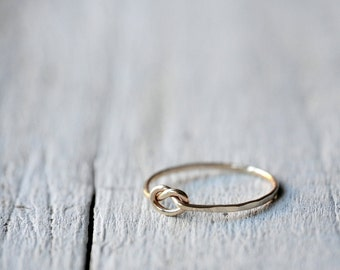 Gold Filled Love Knot Ring, love, BFF, friendship, anniversary, valentine gift