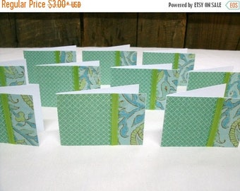 50% OFF Spring Cleaning Set of 10 Mini  Note Cards #7389