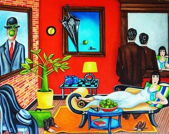 Prints, Magritte Art Print, Print, Magritte Art, Wall Art, Rene Magritte, Magritte Lovers