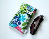 SALE Roomy Sunglasses Case in a Tropical Design