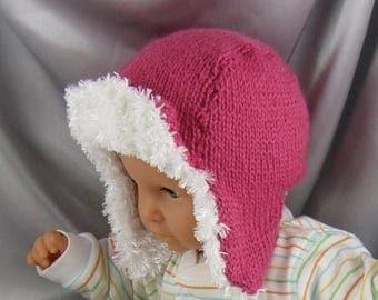 50% OFF SALE digital file pdf download knitting pattern - Baby Trapper hat pdf download knitting pattern