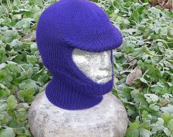 50% OFF SALE Instant Digital File pdf download knitting pattern -madmonkeyknits Soft Peak Balaclava and Beanie pdf knitting pattern