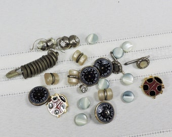 Vintage Buttons, Glass, Metal and Rhinestones