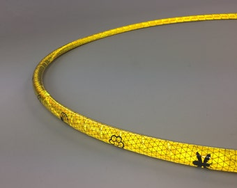 "5/8"" Sacred Bee Reflective Polypro Hula Hoop 