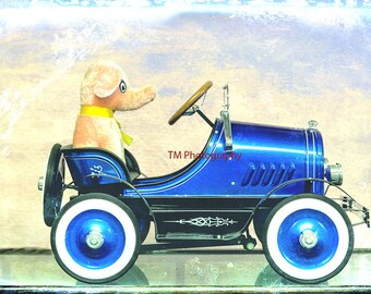 Toy - Playtime - Play Time - Toy Car - Peddle Car - Teddy Bear - Child's Room - Boy's Room - Children Art - Fine Art Photography