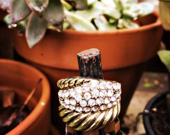 Rope pave wrap ring
