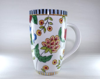 Tall Latte Mug, Handpainted, China Painted SKU172-1