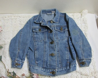 Vintage Jean Jacket Child Size 4 Jet Set