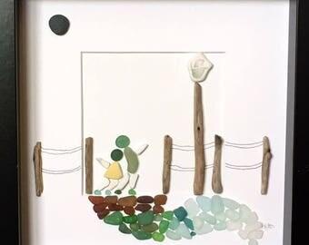 La La Land Inspired Irish Sea Glass Sea Pottery and Driftwood Art