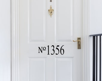 Vinyl Door Numbers-Custom Made - Vinyl Decal