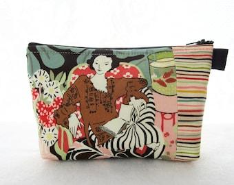 Large Cosmetic Bag Vie en Rose Fine Art Fabric Zipper Pouch Padded Makeup Bag Cotton Zip Pouch Henri Matisse Alexander Henry Woman with Book