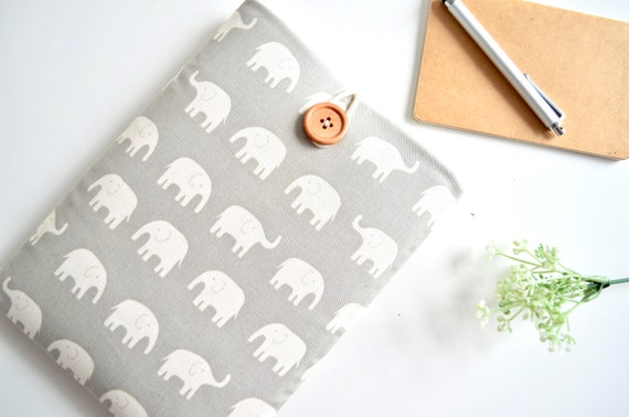 Elephant Kindle Case, Paperwhite Cover or Custom Fit eReader, Cute Kindle Sleeve, Amazon Fire HD 6, 7, 8.9 inch Custom Size