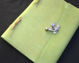 Green Leather Hand Made Journal~Book of Shadows~Sketchbook