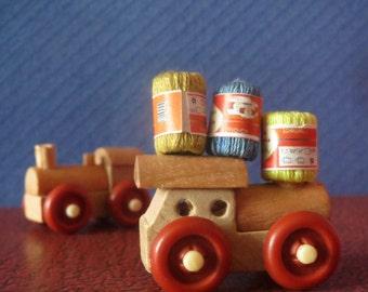 Set of Three 1:12 Scale Dollhouse Miniature Yarn Skeins