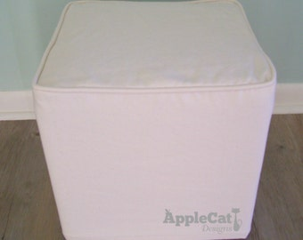 Cube Slipcover Small Ottoman Cover Footstool Slipcover