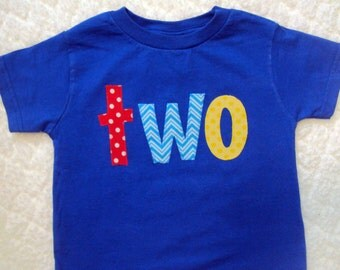 Boys Birthday Shirt- Two Year Old Birthday Shirt- One Year Old Birthday Shirt- Four Year old shirt-