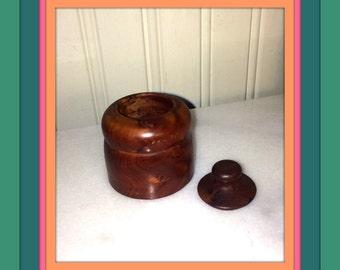 Burled walnut box / Trinket Box / Snuff Box
