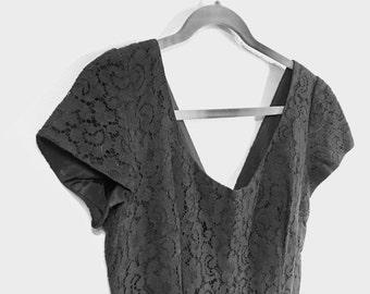 Little Black Dress in vintage 60s lace