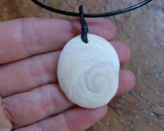 Medium Shiva Eye shell pendant necklace  - beach jewelry handmade in Australia - spiral - fibonacci sequence