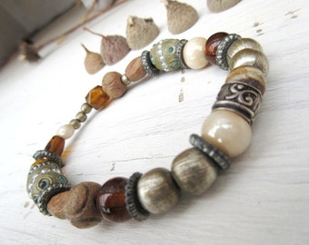 An ethnic ancient African beads bracelet: The Soul Is Landscape .....