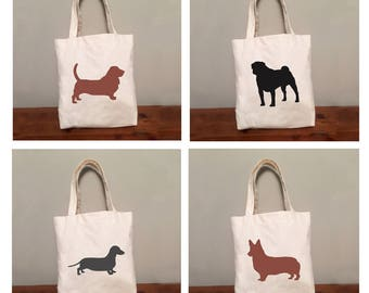 Dog Tote Bag Any Breed