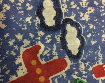 Airplanes and Clouds 100% Cotton Fabric